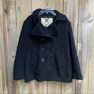 Burberry London Women's Black Wool Pea Coat